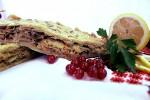 Постный пирог с капустой и грибами (слоёный бездрожжевой)