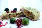 Постный пирог капустный букет (слоёный бездрожжевой)