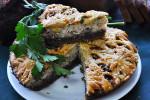 Пирог со свининой и грибами (бездрожжевой на закваске)