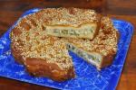 Пирог с курицей и брокколи (дрожжевой)
