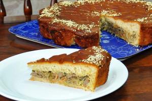 Пирог с печенью (дрожжевой)