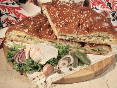 Пирог с индейкой (дрожжевой)