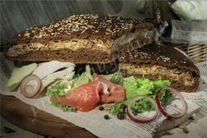 Пирог с капустой и мясом (говядина) (бездрожжевой на закваске)