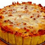 К выходному дню: пирог из макарон
