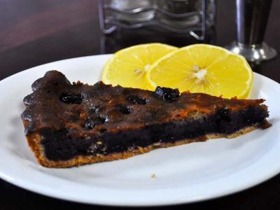 Пирог с черникой и малиной (песочный)