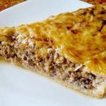 Рецепт классического мясного пирога