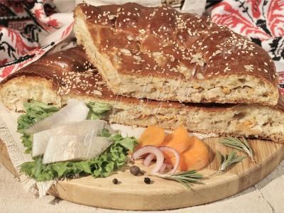 Пирог с судаком (дрожжевой)