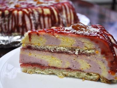Йогуртовый клубника-персик (Заказы на торты принимаются за 3 дня)